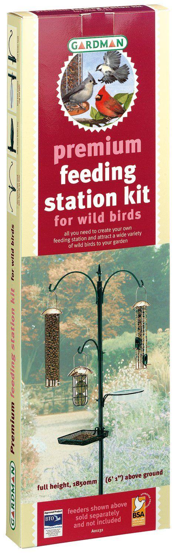"""Amazon.com : Gardman BA01131 Premium Bird Feeding Station Kit, 21"""" Wide x 90"""" High (73"""" above ground height) : Wild Bird Feeders : Patio, Lawn & Garden"""