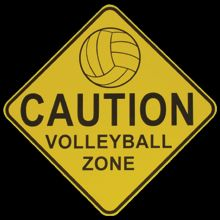 CAUTION! volleyball players may be intense