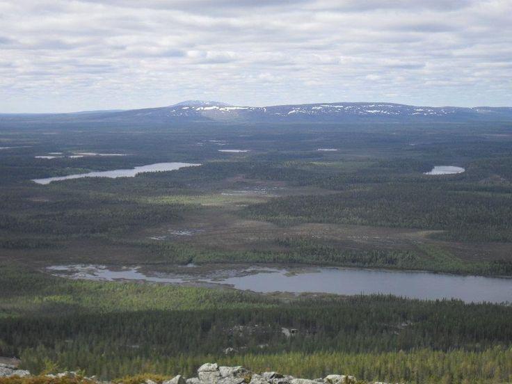 Wiev from the top of Levi fjeld, Kittilä.