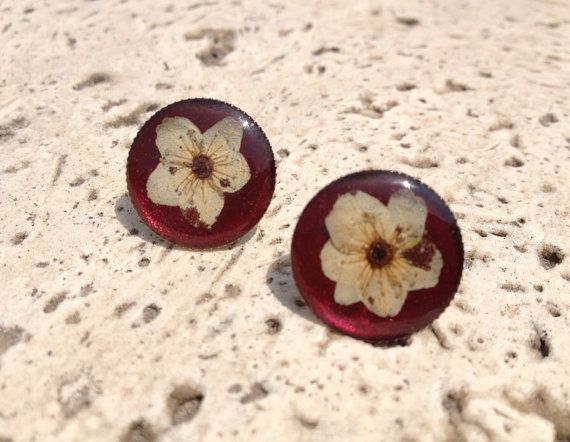 Mine Real flowers earring on Etsy, $20.00