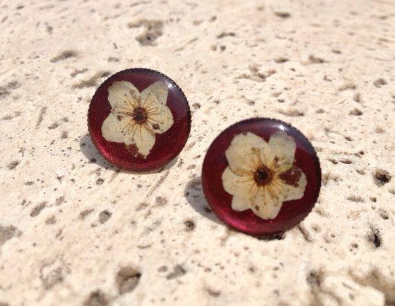 Mine Real flowers earring on Etsy, $20.00
