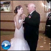 Father & daughter wedding dance - marvellous! this will bring a smile to your dial : )