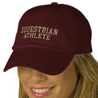 Equestrian Athlete Embroidered Adjustable Cap Baseball Cap