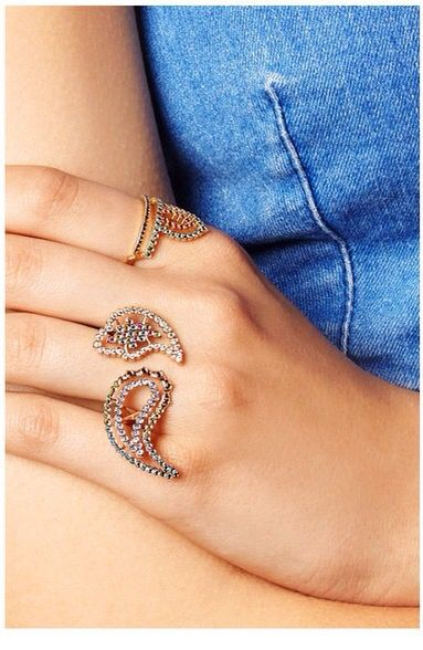 Wonderland rings in Net-a-porter