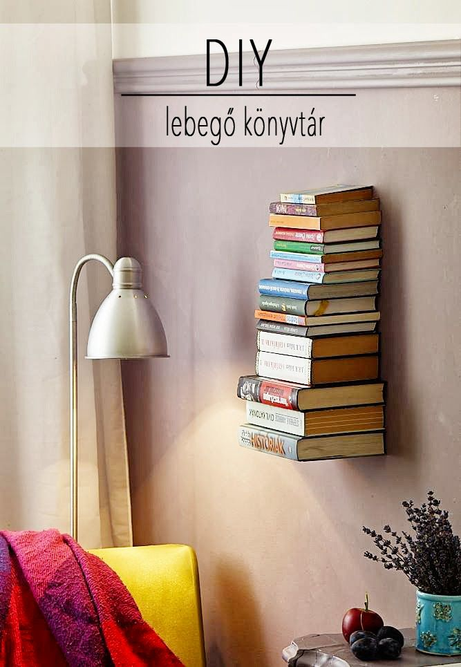 DIY lebegő könyvtartó * Vendégblogger ~ PIN MAGAZIN