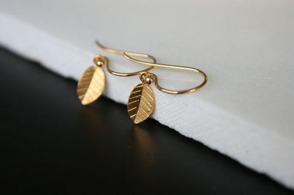 Øredobber *gullblad*