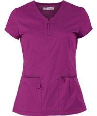 Koi STRETCH Scrubs Mackenzie Top Style #  K204 raspberry scrubs $29.99 uniform advantage
