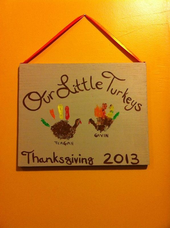 Thanksgiving handprints :)