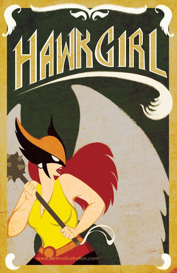 Hawkgirl - deenaillustration.com