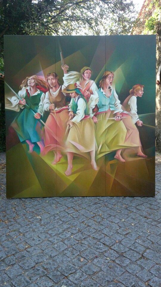 Maria da Fonte #revolução maria da fonte #povoa de lanhoso #domingos silva pintor