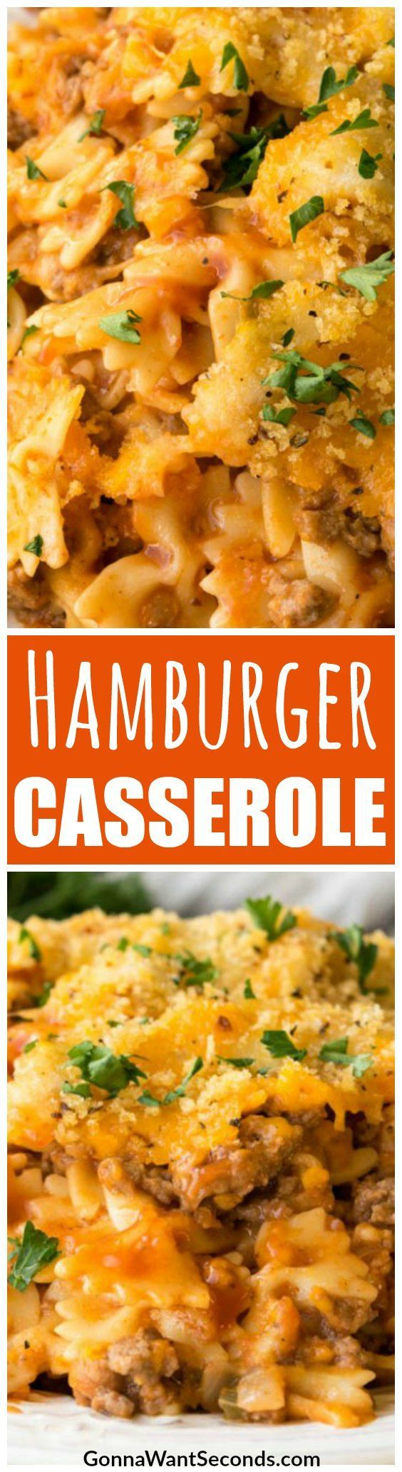 This Easy, Cheesy Hamburger Casserole is Destined to Become one of Your Favorite Recipes! Made with Ground Beef or Turkey, with Noodles, Cheese and a Delicious Sauce, Your Family Will Think its one of the Best Dinners in Your Rotation. #Recipes #Easy #WithNoodles #Cheesy #Crockpot #Dinners #Beef #One