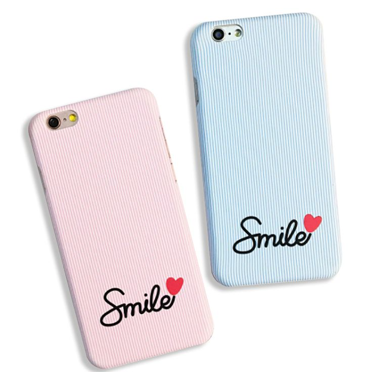 Fashion Candy Stripes Case For iphone 5S Case For iphone 5 6 6S Plus Back Cover Cartoon Lovely Smile Couple Phone Cases Capa NEW