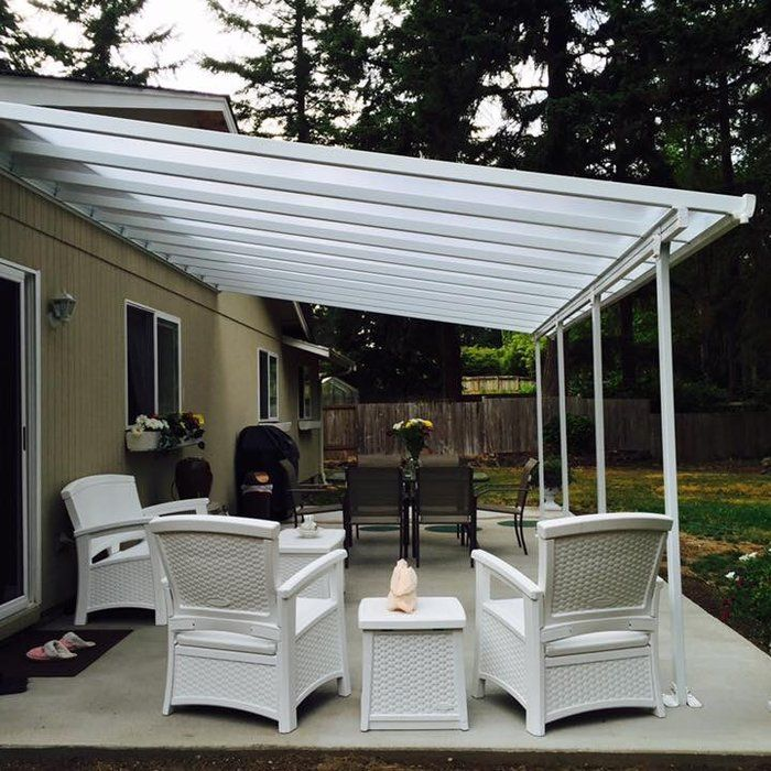 Feria 20 Ft W X 13 Ft D Plastic Standard Patio Awning Pergola Patio Patio Awning Patio Design