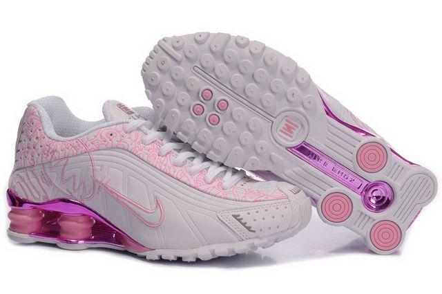 Nike Shox Rose Et Blanche