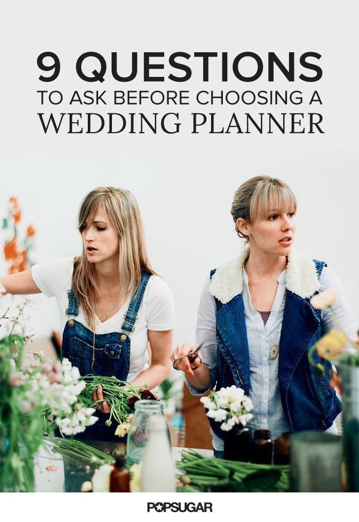 9 questions to ask before choosing a wedding planner