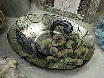 Murano Design Oval Dish Bowl Deco Silver 5 95 All 3 Pieces Great Wedding Gift