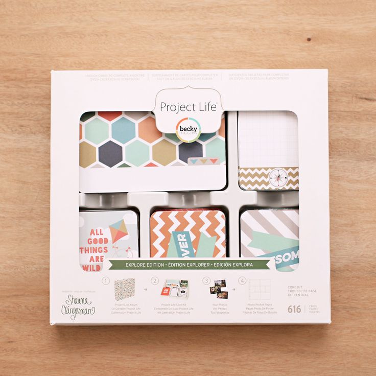 Explore Edition Core Kit - Project Life Scrapbook Card Kit – Becky Higgins