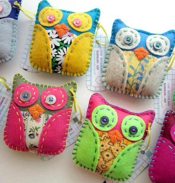 Felt owl ornaments from etsy!