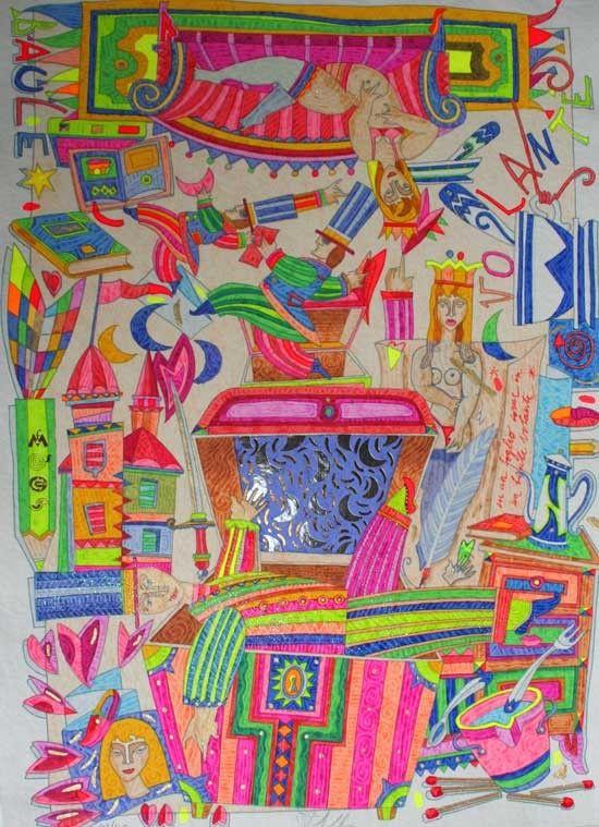 Il baule volante, Francesco Musante, Serigrafia, #gliartistidiGALP