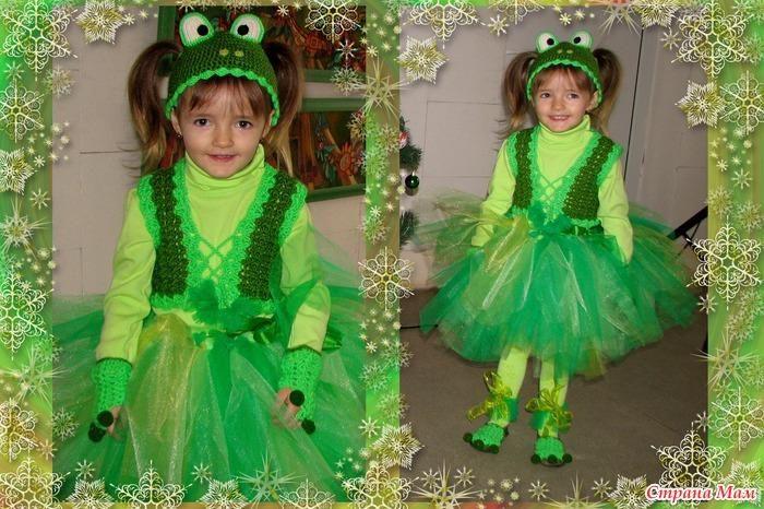 Как сделать новогодний костюм лягушки для ребёнка