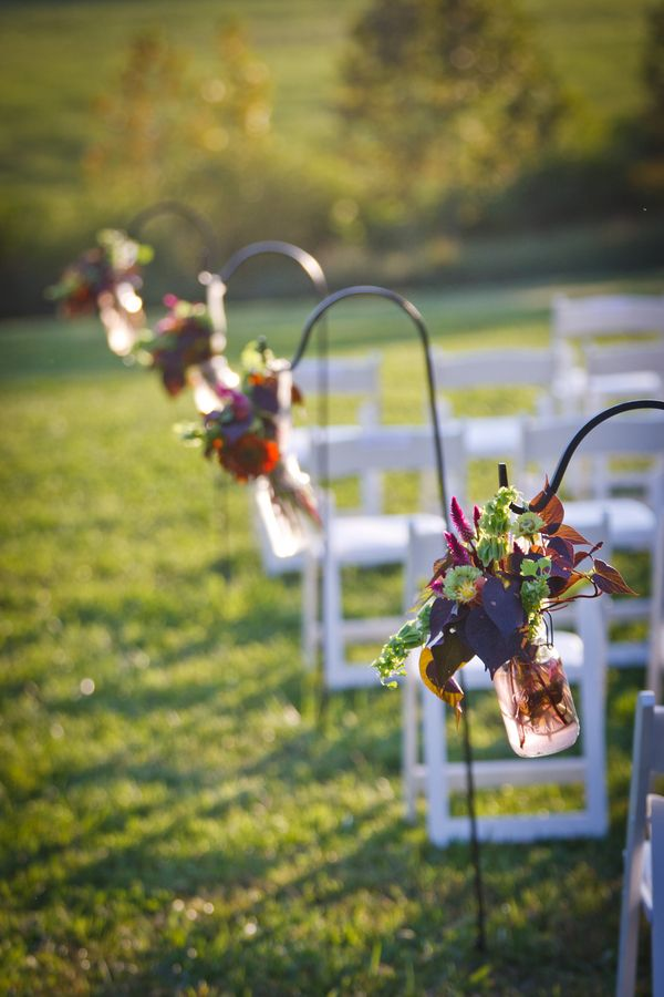 Flower Aisle Decor For Fall Weddings
