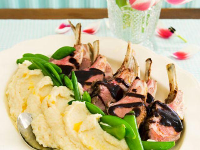 Lammracks med balsamsky (kock Le Parfait)