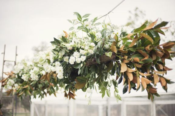 suspended flowers + foliage