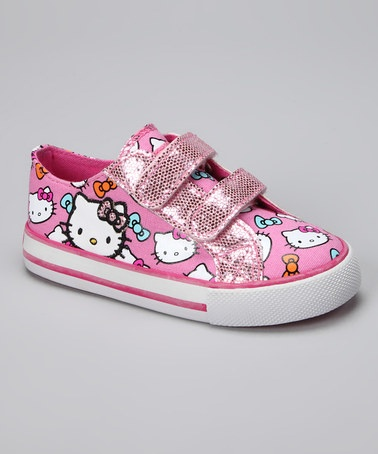 Take a look at this Pink Hello Kitty Lil Aimee Sneaker by Hello Kitty on #zulily today!