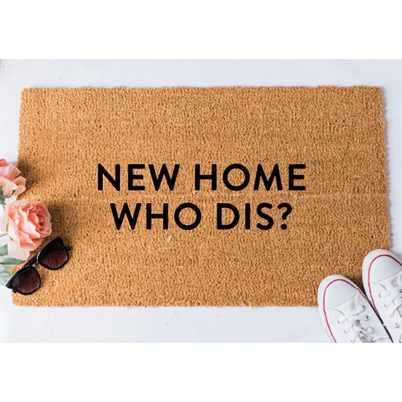 New Home Who Dis Doormat Funny Doormat Welcome Mat Funny Funny