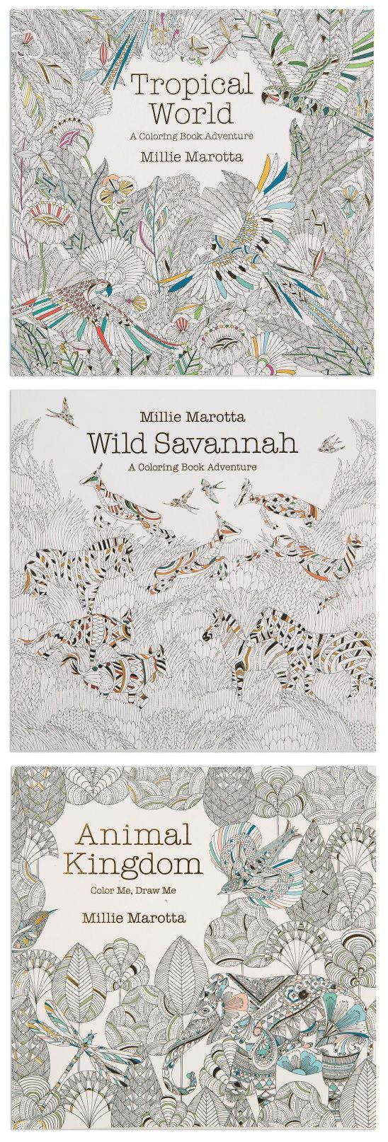 Color me draw me animal kingdom book - Millie Marotta Is One Of The Most Popular Creators Of Adult Coloring Books Including Tropical