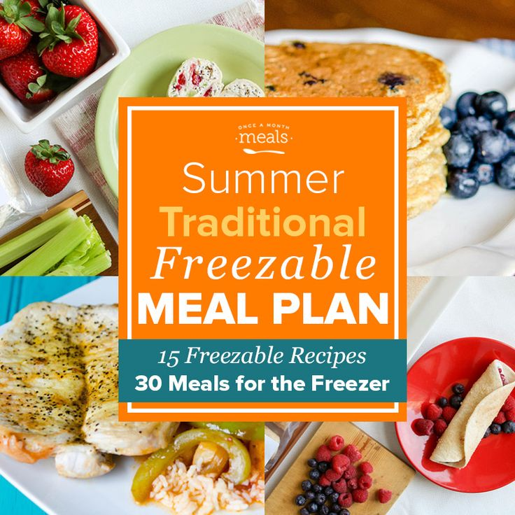 Use our Summer Traditional Freezer Menu to make the most of seasonal produce like blueberries, peppers, and pineapple with a plan of easy freezer meals!