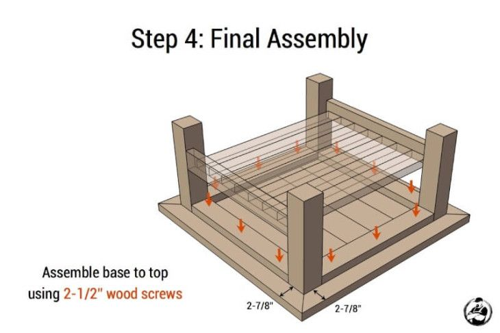 Square Plank Coffee Table - Step 4