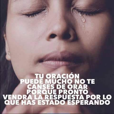 Nunca te canses de orar.