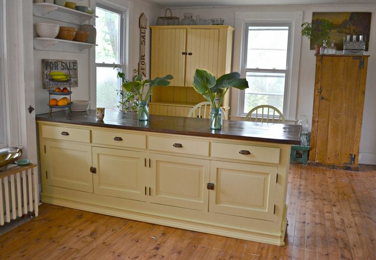 17 best images about the farm house kitchen island for Antique pine kitchen cabinets