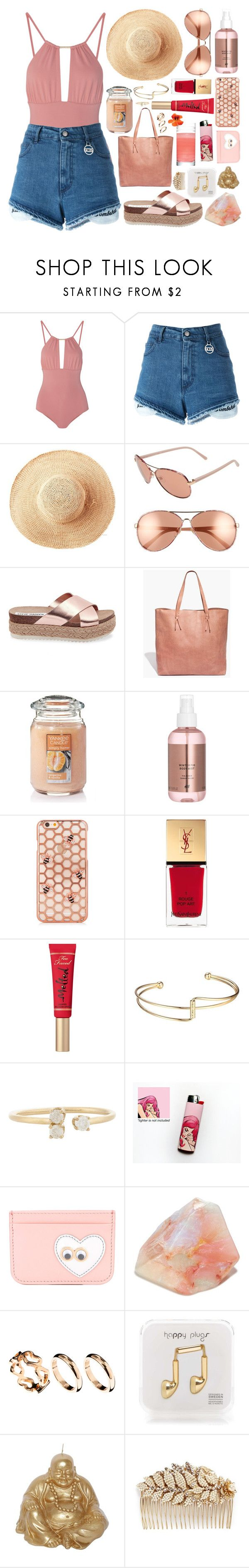 """""""Untitled #781"""" by clary94 ❤ liked on Polyvore featuring Melissa Odabash, GCDS, Toast, Diane Von Furstenberg, Steve Madden, Madewell, Yankee Candle, Yves Saint Laurent, Too Faced Cosmetics and Loren Stewart"""