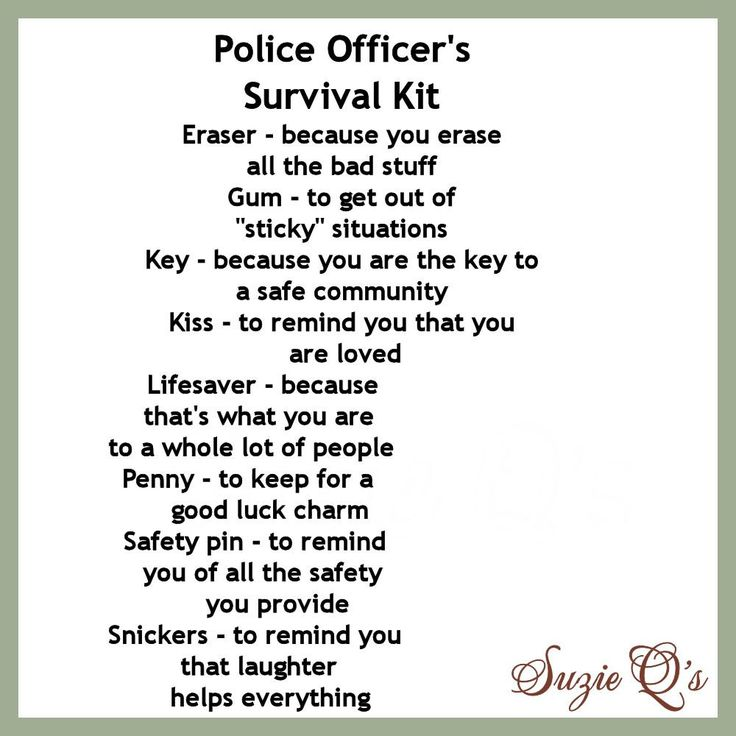 Police Officer's Survival Kit includes Topper and by SuzieQsCrafts, $1.50