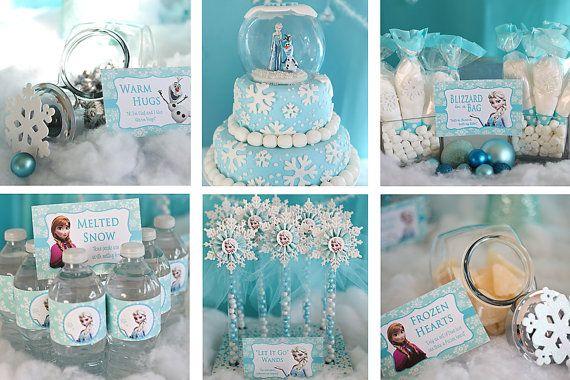 Frozen Birthday Party Printables- Fully Customizable for your party! on Etsy, $15.00