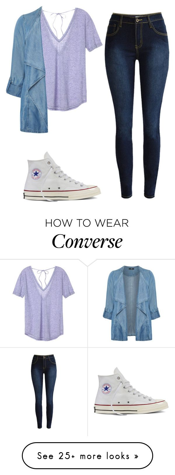 """simple"" by vaniadenisse16 on Polyvore featuring Victoria's Secret, Evans, Converse and plus size clothing"