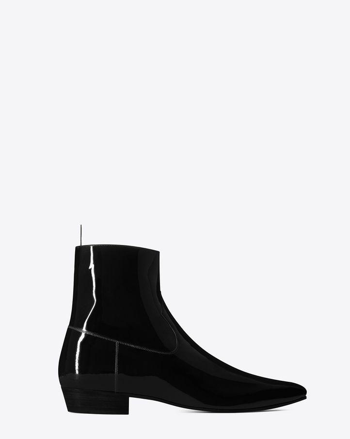 DEVON 30 western boot in black patent leather