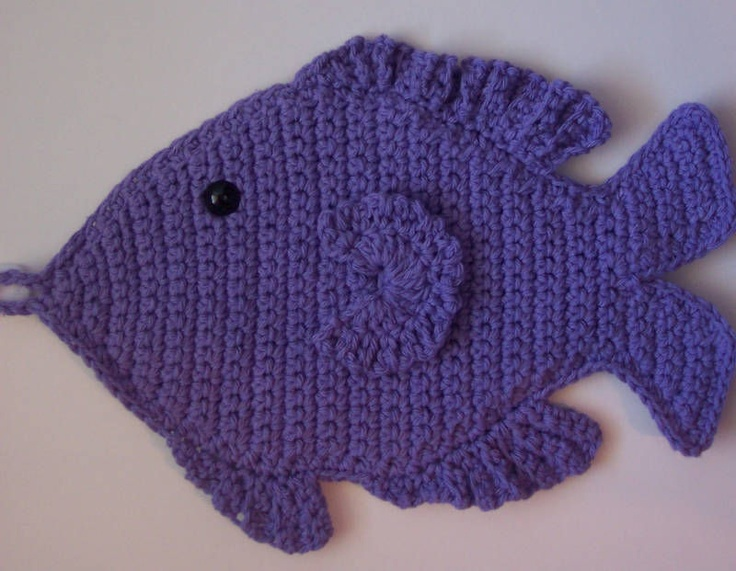 Free Crochet Fish Potholder Pattern : 20 Best images about crochet on Pinterest Potholders ...