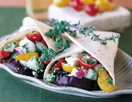 Grilled Greek Wraps