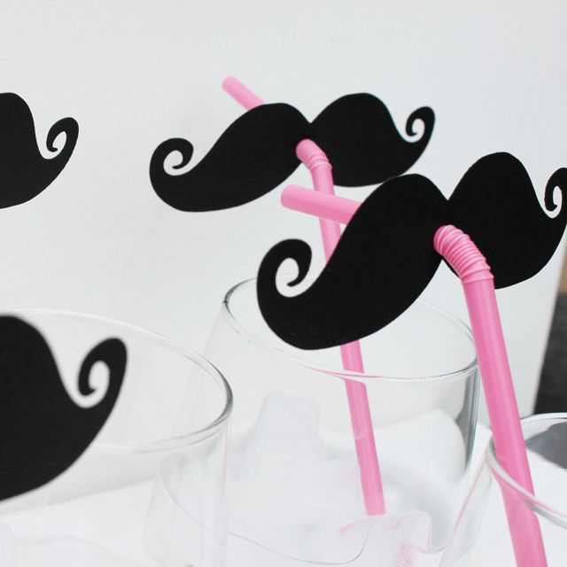 #DIY #Mustache drink topper
