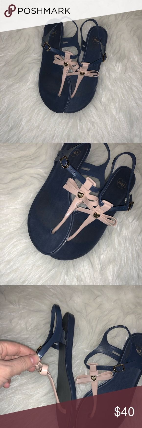 Melissa Sandals In perfect condition ! 100 percent Authentic! I don't have the box ! It was tossed when I got it ! Smells amazing ! Got it from Bloomingdales ! No trades I am open to offers ! Melissa Shoes Sandals