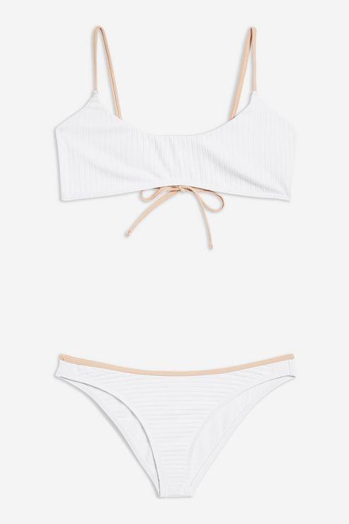 5e40ad6e6ae18 Ribbed High Leg Bikini Set in 2019