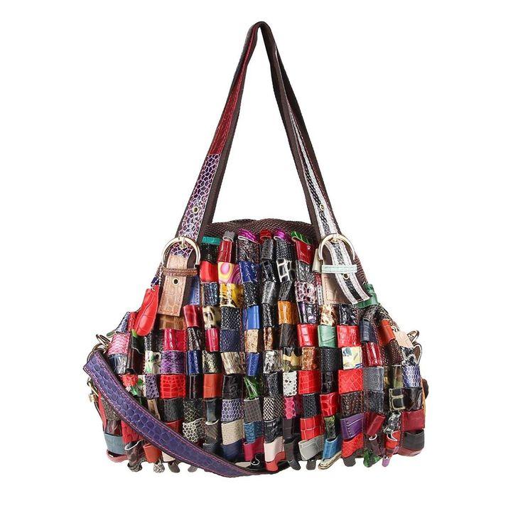 OBC ital-design Damen Leder Tasche Lackleder Handtasche Schultertasche Businesstasche Shopper Henkeltasche Hobo Bag Schwarz – Italyshop24.com