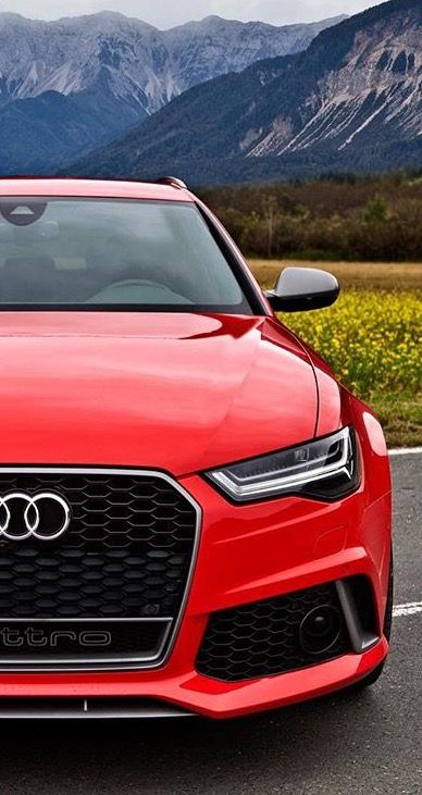 Red Audi RS6 C7
