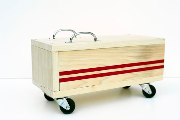 Cool! Handmade artist and designer creates for his kids: Modern Kids' Ride-on Toy