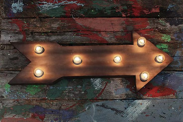 Marquee Industrial Style Arrow Electric Sign