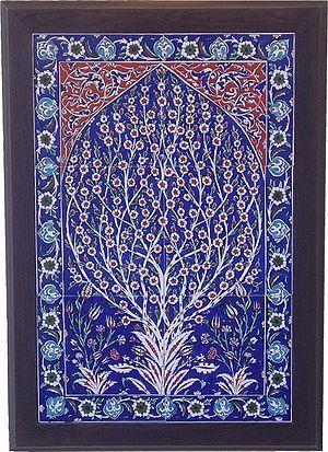 Blue Turkish Tiles in Frame