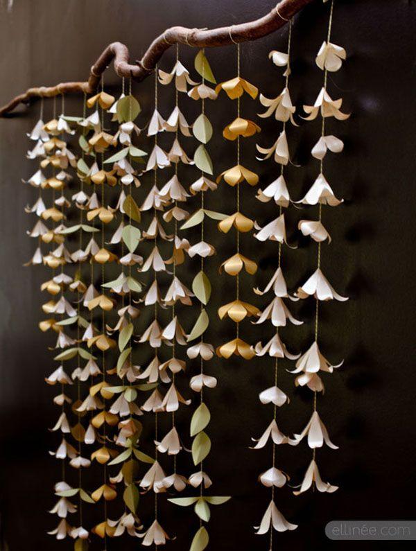 sfondo per photo booth con fiori di carta | Wedding Wonderland